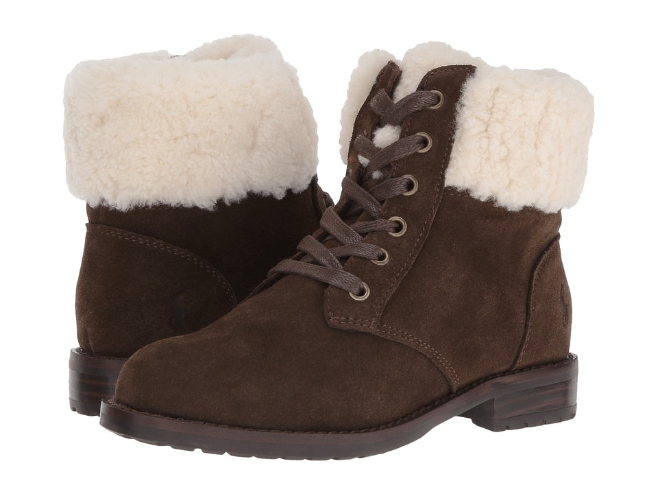 Polo Ralph Lauren Kids - Mikaela (Little Kid/Big Kid) (Chocolate Suede) Girl's Shoes