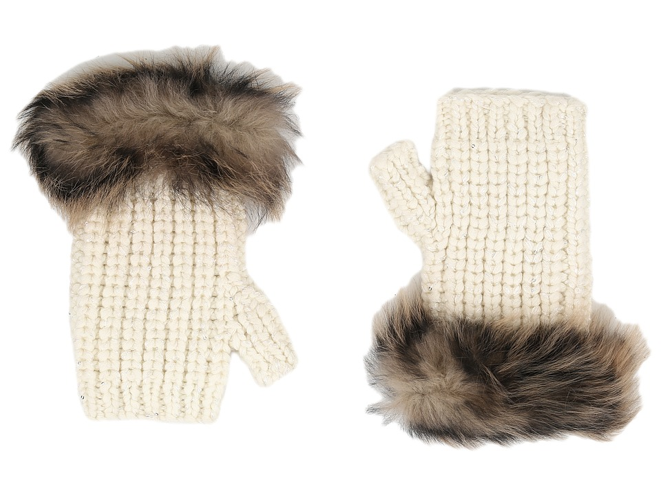 UGG - Crochet Gloves w/ Lurex/Sequins/Toscana Trim (Ivory Multi) Extreme Cold Weather Gloves