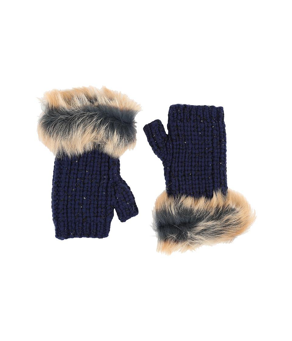 UGG - Crochet Gloves w/ Lurex/Sequins/Toscana Trim (Indigo Multi) Extreme Cold Weather Gloves