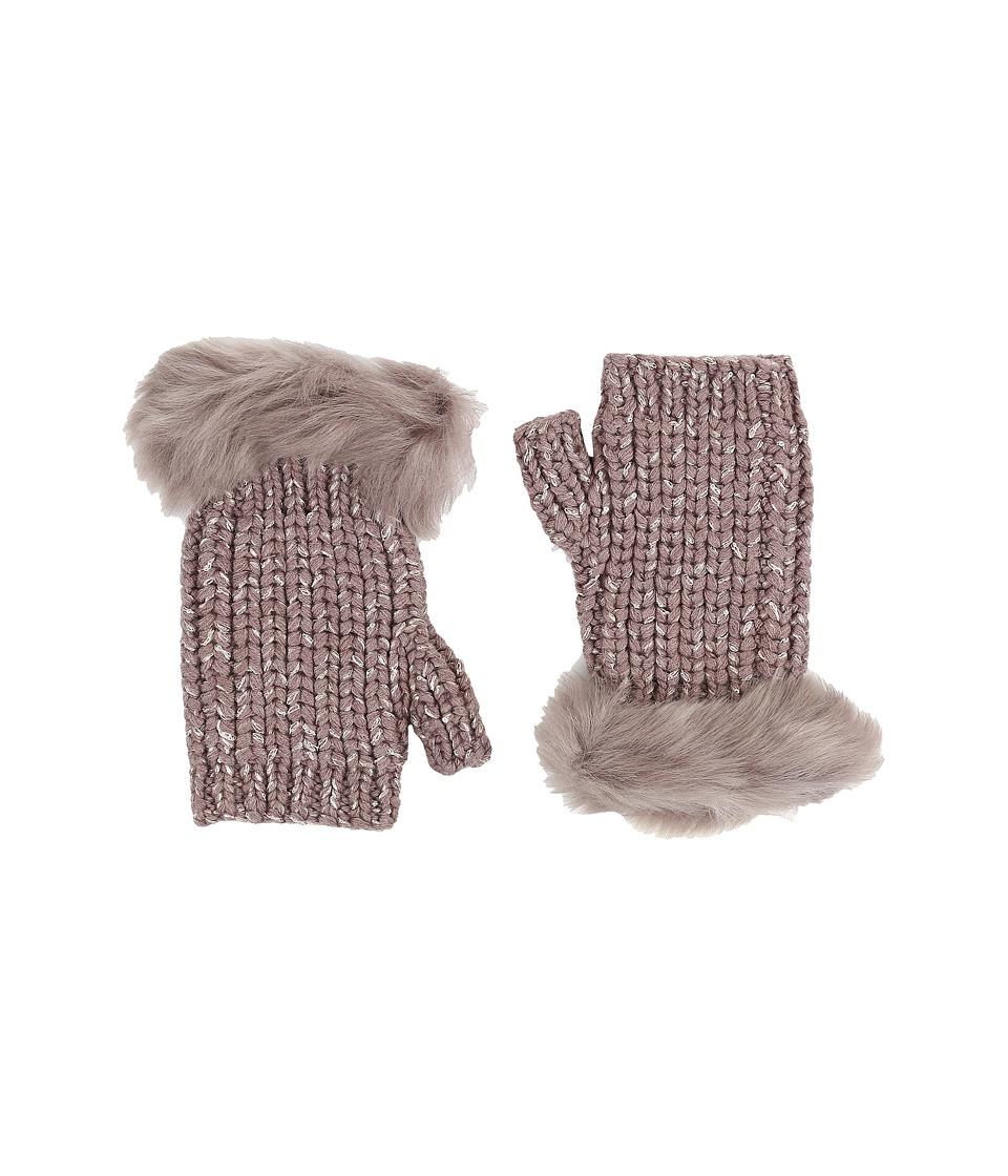UGG - Crochet Gloves w/ Lurex/Sequins/Toscana Trim (Stormy Grey Heather) Extreme Cold Weather Gloves