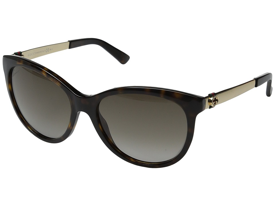 Gucci - GG 3784S (Dark Havana/Gold) Fashion Sunglasses