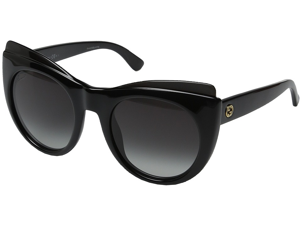 Gucci - GG 3781S (Shiny Black) Fashion Sunglasses