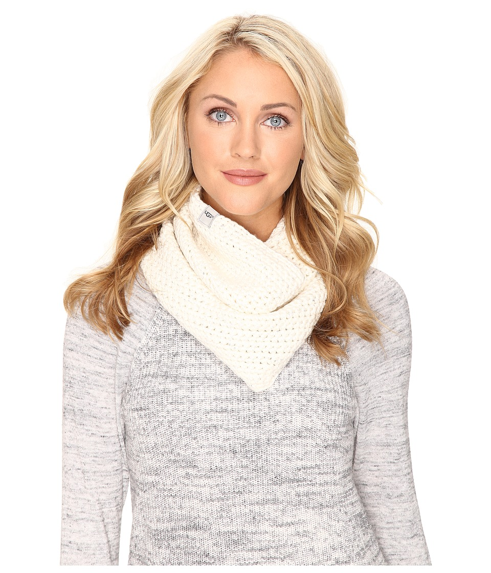 UGG - Crochet Snood with Lurex Sequins (Ivory Multi) Scarves