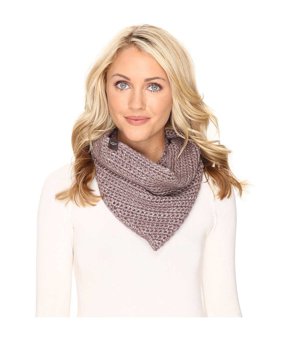 UGG - Crochet Snood with Lurex Sequins (Stormy Grey Heather) Scarves