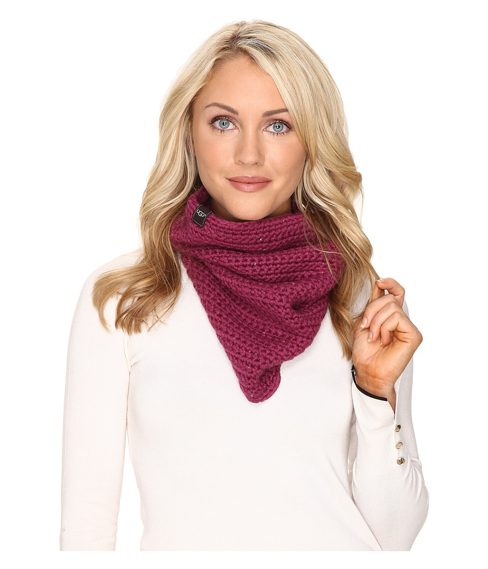 UGG - Crochet Snood with Lurex Sequins (Bougainvillea Multi) Scarves