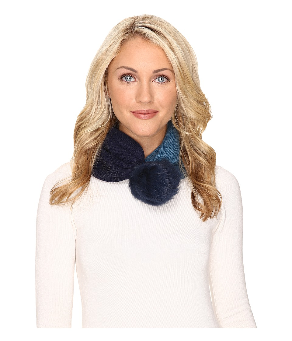 UGG - Snoot w/ Toscana Trim - Snood + Hat (Navy Multi) Scarves