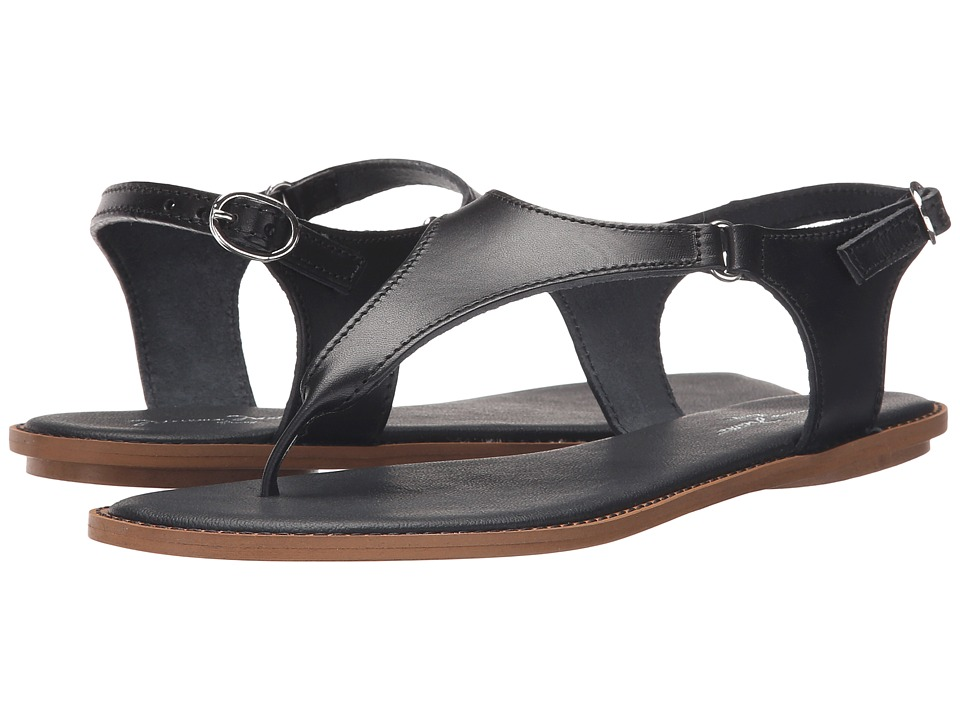 Massimo Matteo Thong Ankle Strap (Black) Women