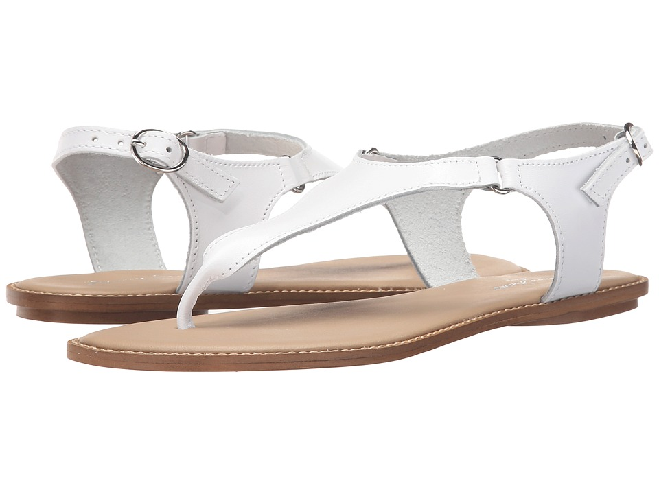 Massimo Matteo - Thong Ankle Strap (White) Women's Sandals