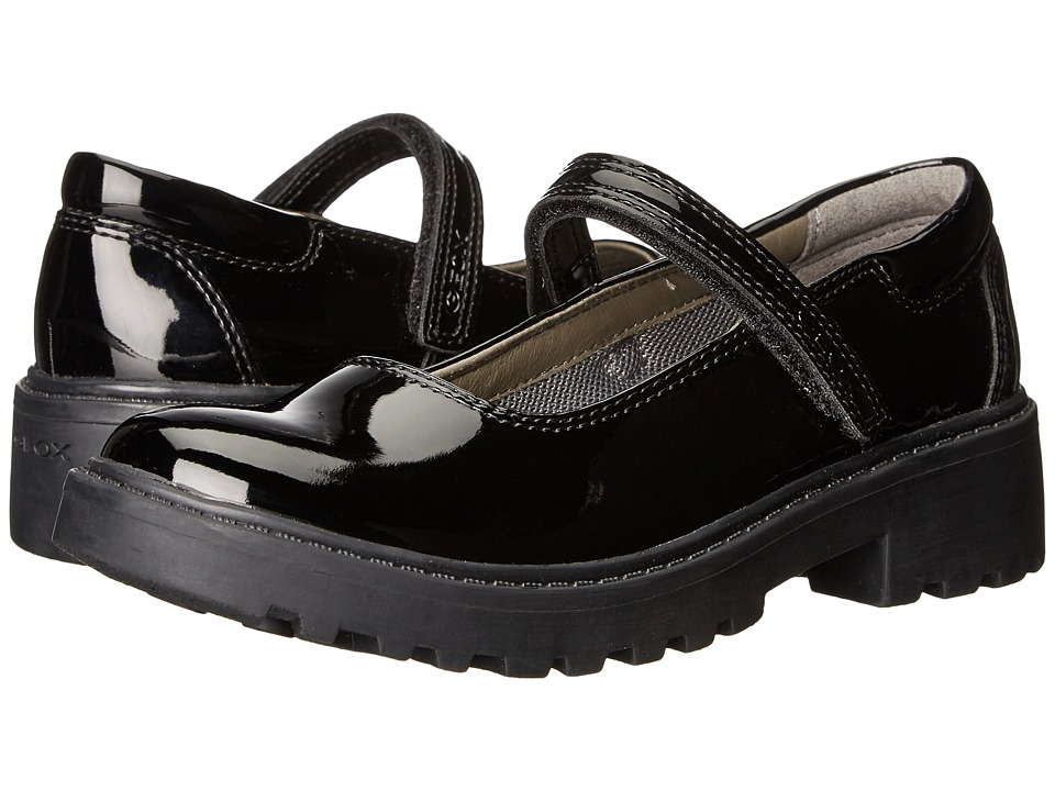 Geox Kids - J Casey Girl 8 (Little Kid/Big Kid) (Black) Girl's Shoes