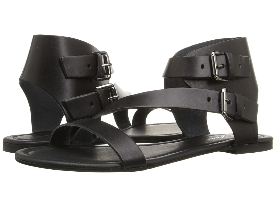 Massimo Matteo - 2 Band Ankle Strap (Black) Women's Sandals