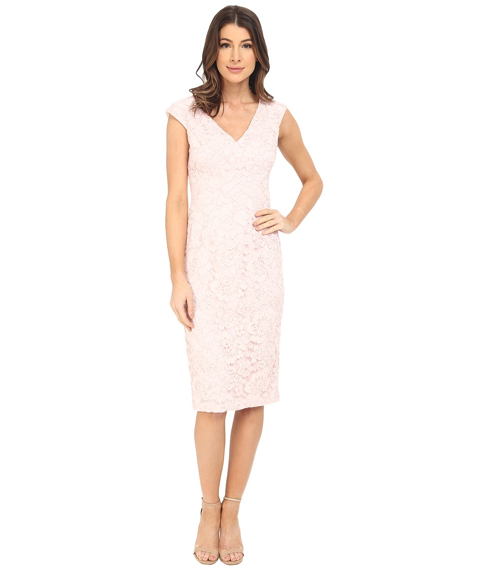 Maggy London - Rose Garden Lace Sheath (Powder) Women's Dress
