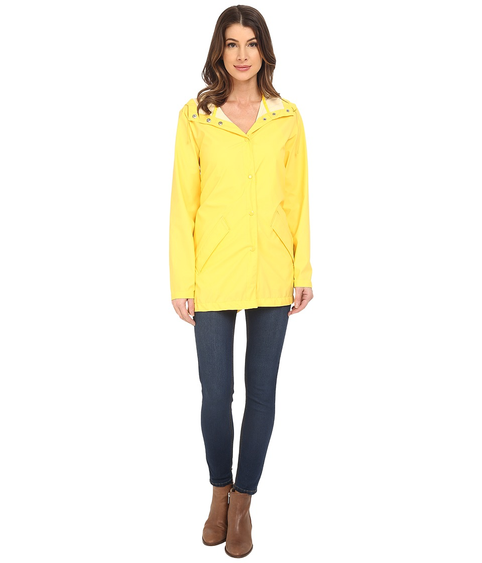 Cole Haan - Water Repellent Hooded Parka Raincoat (Sunray) Women's Coat