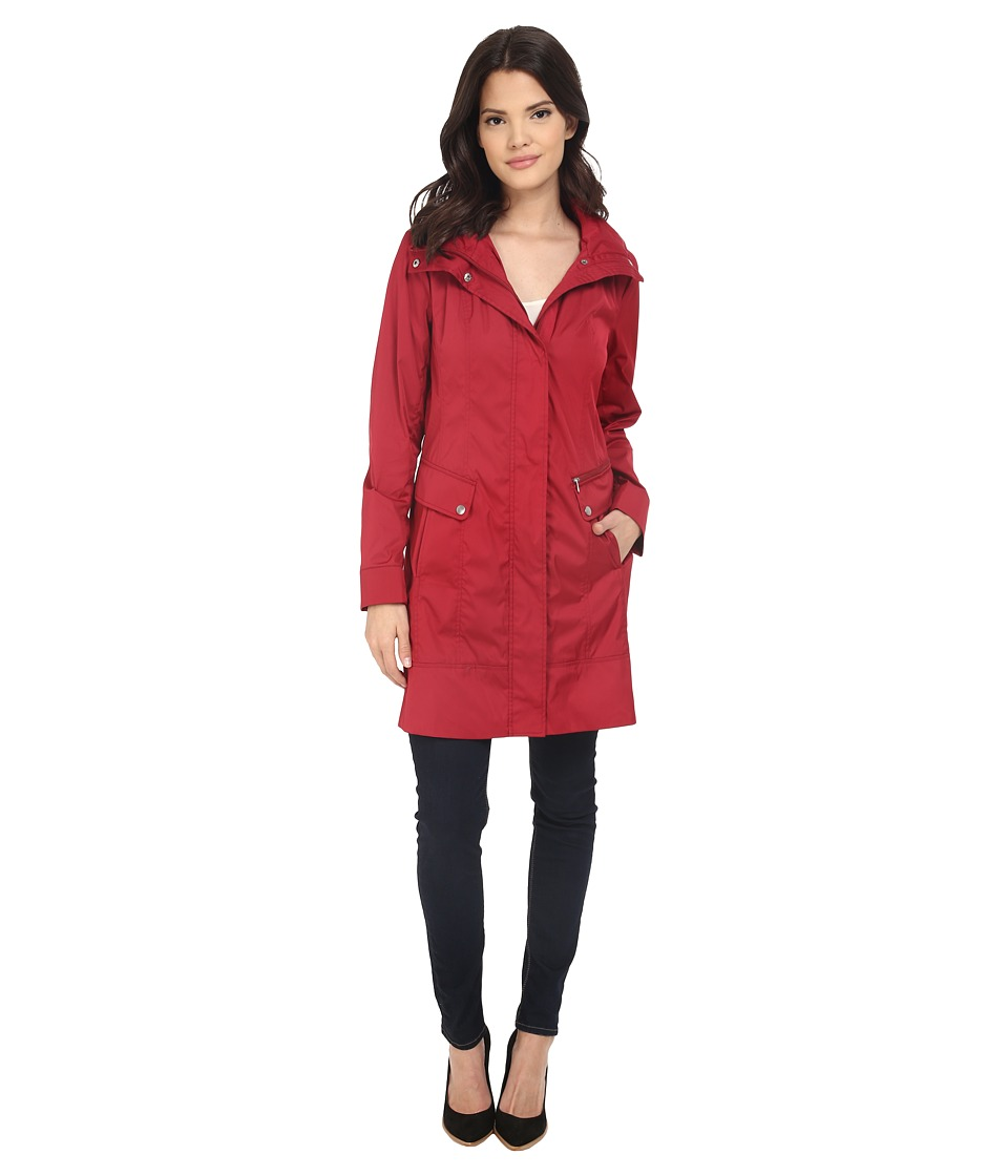 Cole Haan - Double Faced Contrast Color Packable Jacket (Red) Women's Coat