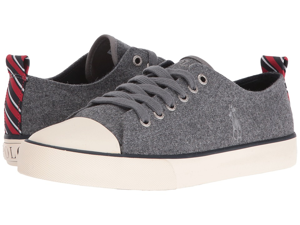 Polo Ralph Lauren Kids - Falmuth Low (Big Kid) (Charcoal Grey Wool/Patch Collage) Kid's Shoes