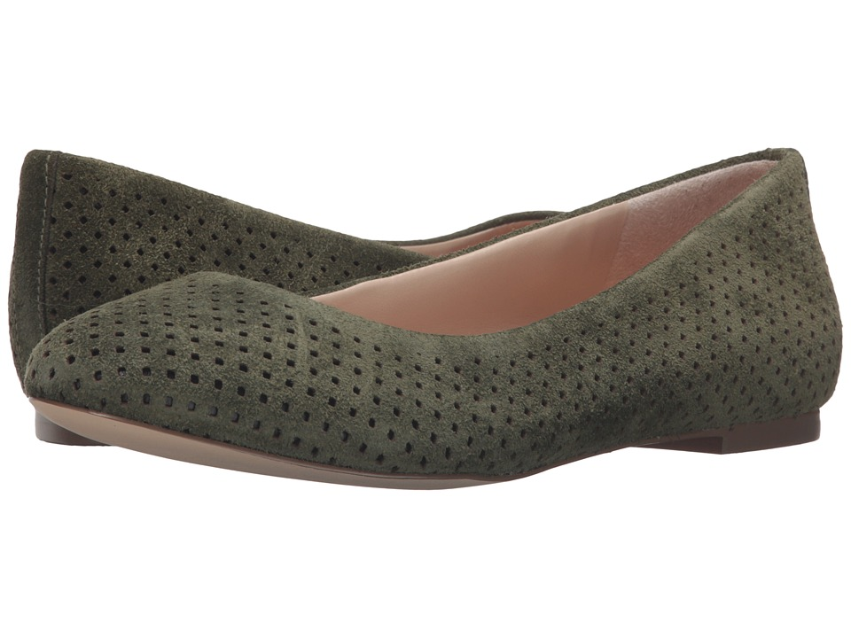 Dr. Scholl's - Vixen - Original Collection (Olive Suede) Women's Flat Shoes