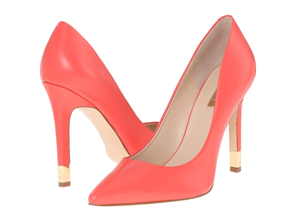 GUESS - Babbitta (Medium Red Leather) High Heels