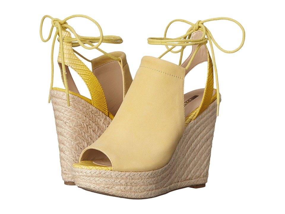 GUESS - Orristi (Yellow Suede) Women's Wedge Shoes