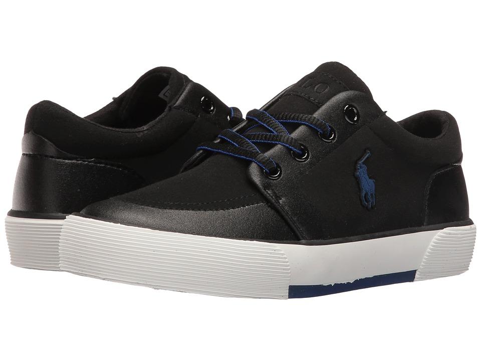 Polo Ralph Lauren Kids - Faxon II SP (Little Kid) (Black Sportbuck) Kid's Shoes
