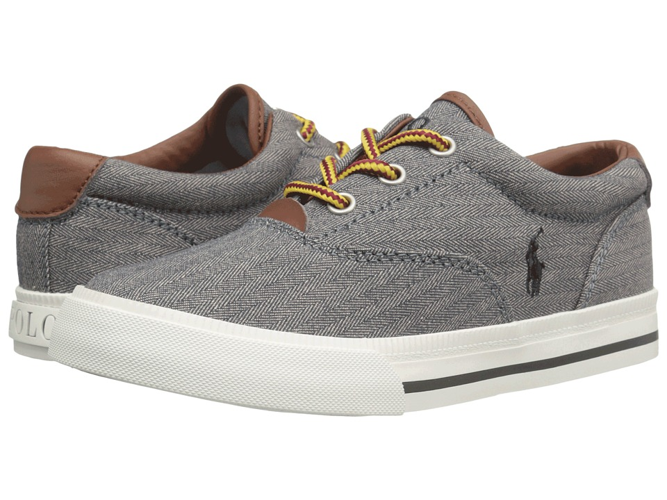 Polo Ralph Lauren Kids - Vaughn II (Little Kid) (Grey Chambray Herringbone/Grey Pony) Kid's Shoes