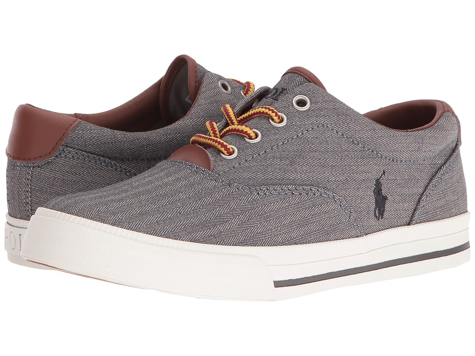 Polo Ralph Lauren Kids - Vaughn II (Big Kid) (Grey Chambray Herringbone/Grey Pony) Kid's Shoes
