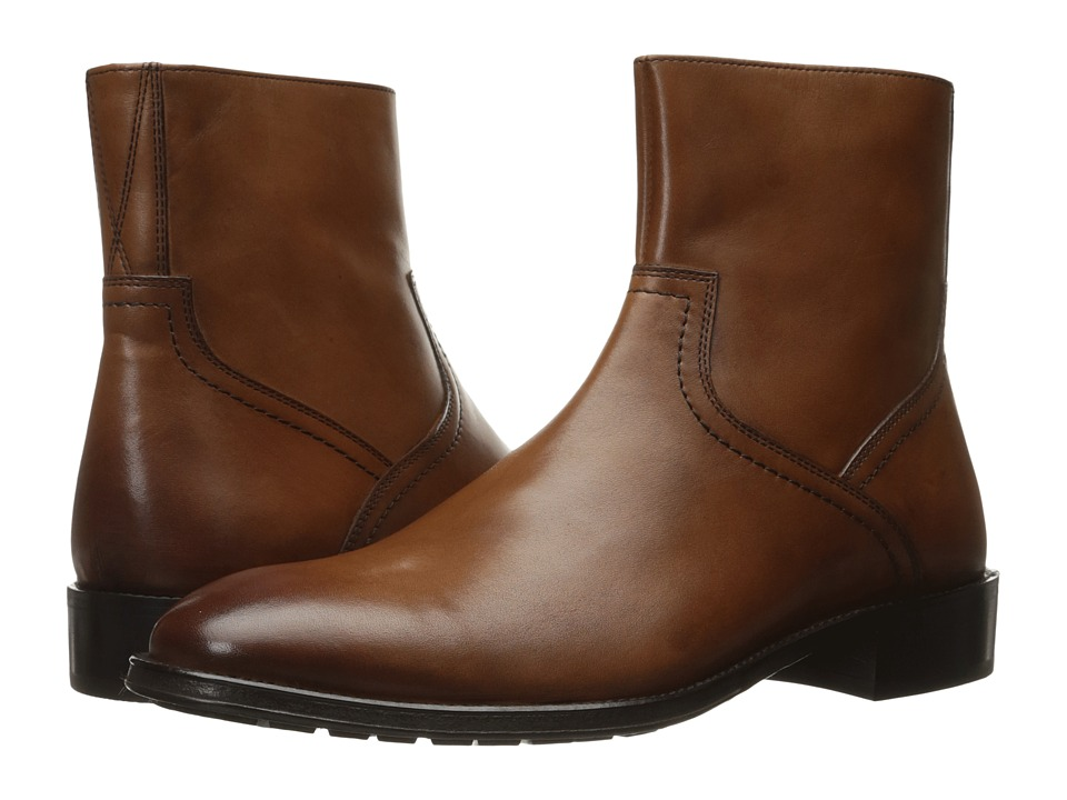 Florsheim - Capital Plain Toe Zip Boot (Cognac Smooth) Men's Boots