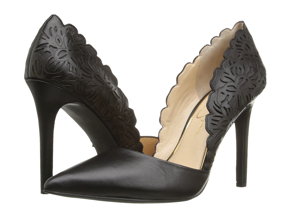 Jessica Simpson Cassel (Black Soft Nappa Silk) High Heels