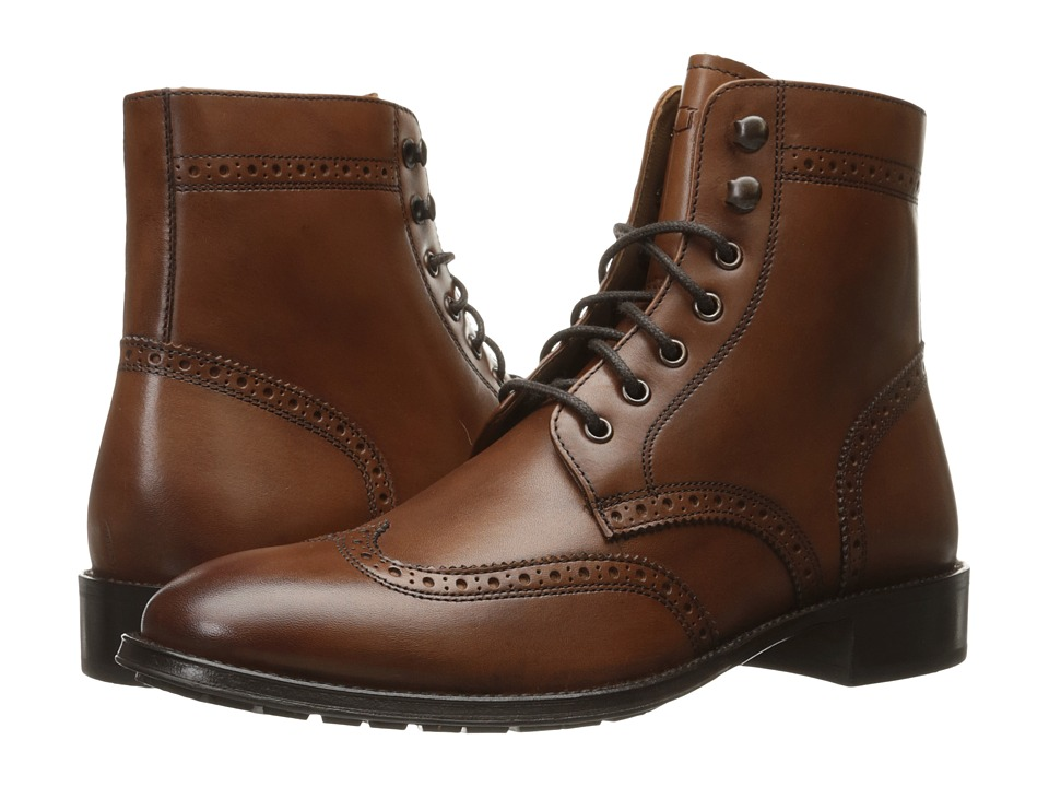 Florsheim - Capital Wingtip Lace-Up Boot (Cognac Smooth) Men's Dress Lace-up Boots