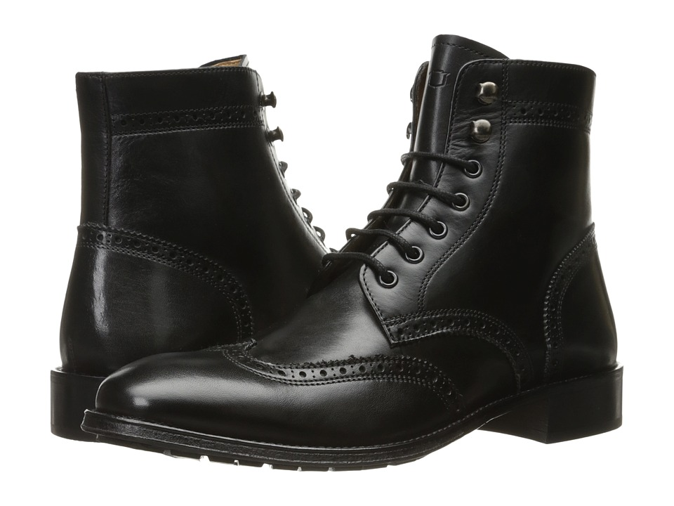 Florsheim - Capital Wingtip Lace-Up Boot (Black Smooth) Men's Dress Lace-up Boots