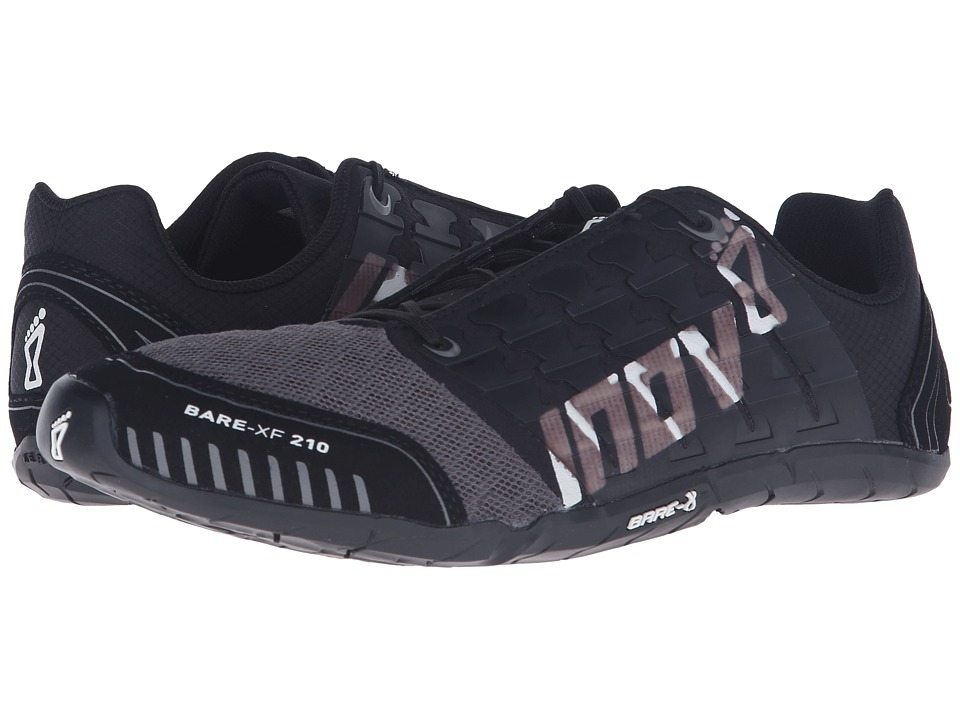 inov-8 - Bare-XF 210 (Black/Grey/White) Running Shoes