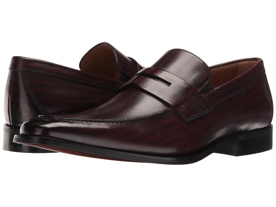Florsheim - Sabato Penny (Wine Hand-Brushed) Men's Slip-on Dress Shoes