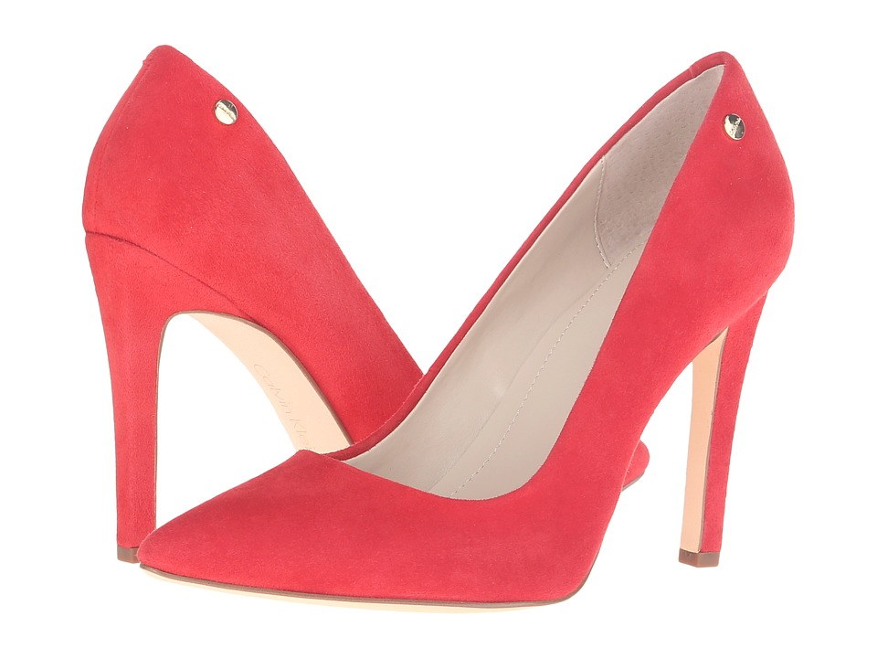 Calvin Klein - Brady (Lipstick Red Kid Suede) Women's Shoes