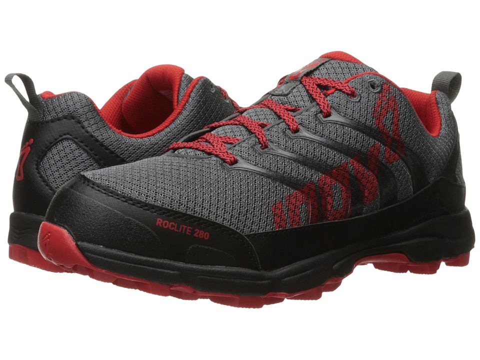 inov-8 - Roclite 280 (Grey/Red) Men's Running Shoes