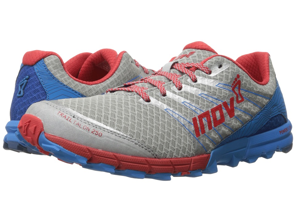 inov-8 - TrailTalon 250 (Silver/Blue/Red) Men's Running Shoes