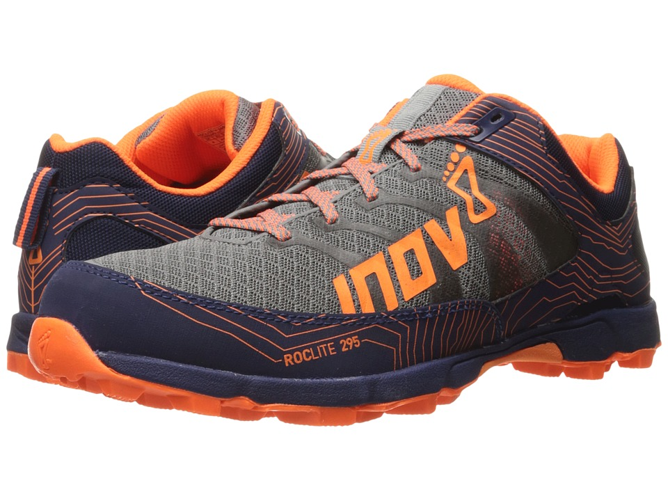 inov-8 - Roclite 295 (Grey/Orange/Blue) Men's Running Shoes