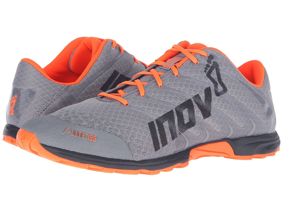 inov-8 - F-Lite 195 (Grey/Orange/Black) Men's Running Shoes