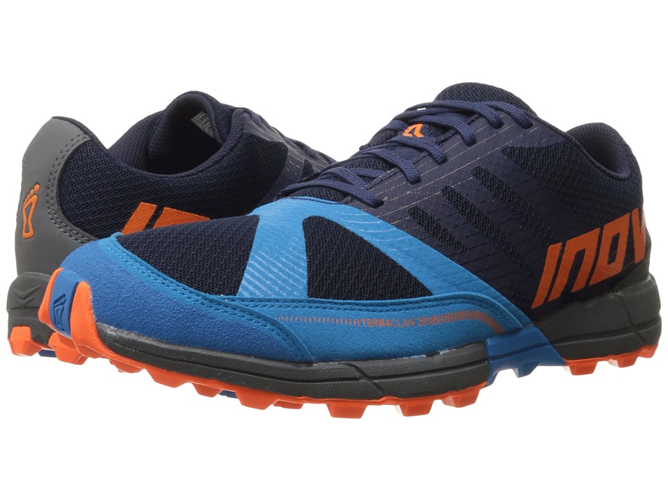 inov-8 - Terraclaw 250 (Navy/Blue/Orange) Men's Running Shoes
