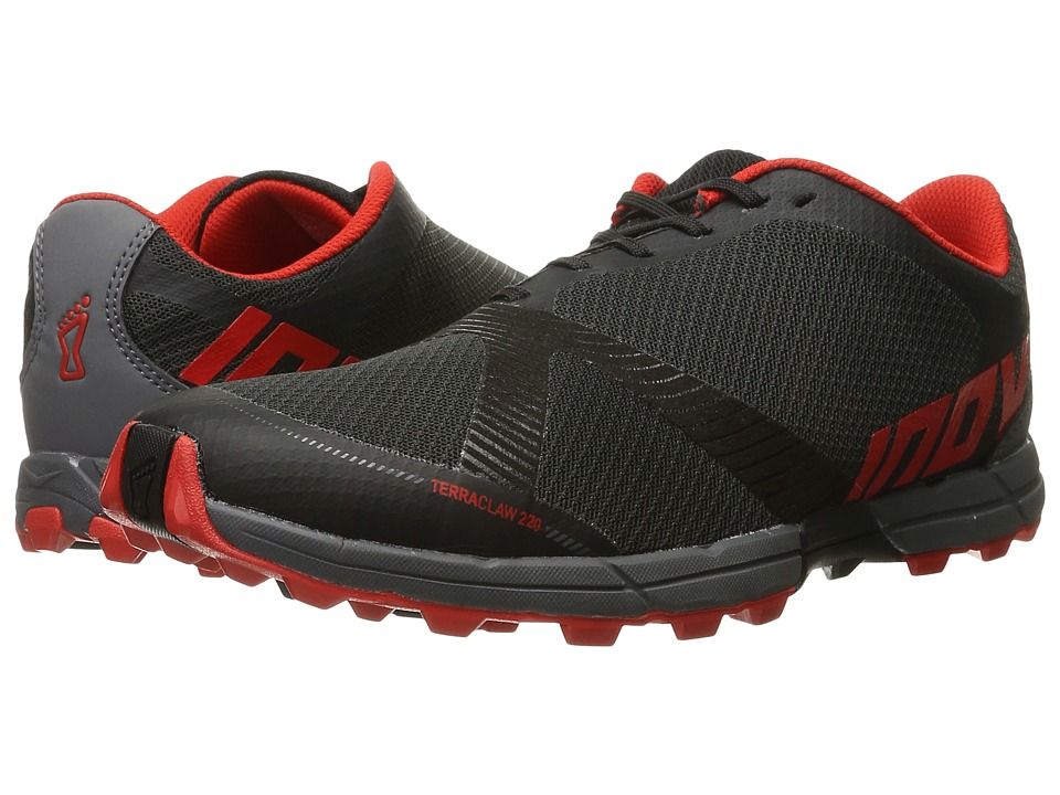 inov-8 - Terraclaw 220 (Black/Red/Grey) Men's Running Shoes