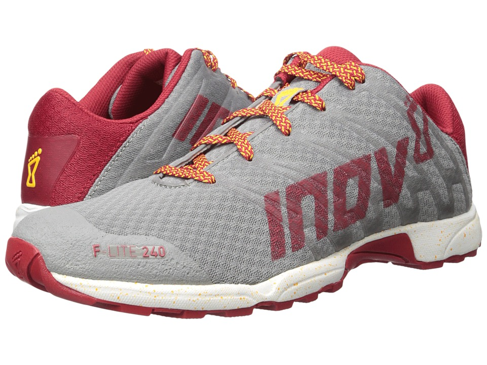 inov-8 - F-Lite 240 (Grey/Dark Red/White) Men's Running Shoes