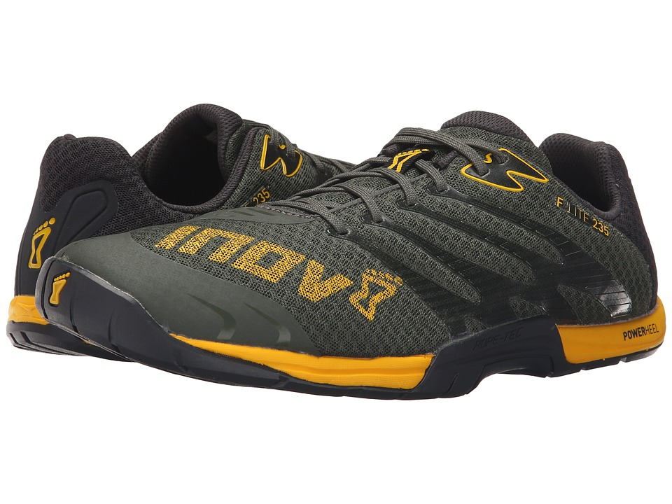 inov-8 - F-lite 235 (Dark Green/Yellow) Men's Running Shoes