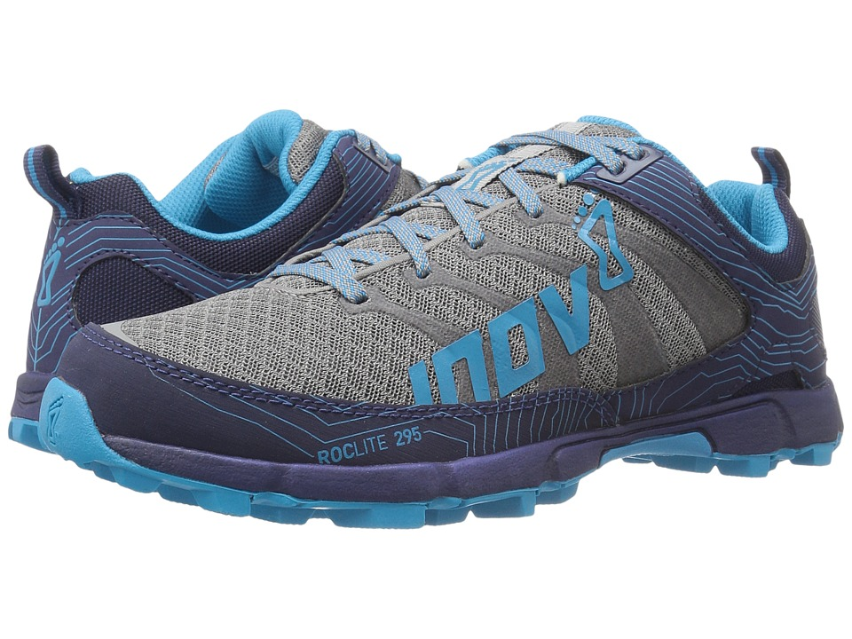 inov-8 - Roclite 295 (Grey/Navy/Blue) Women's Running Shoes