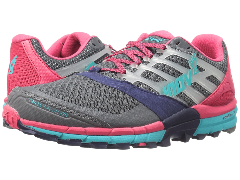 inov-8 - TrailTalon 275 (Grey/Navy/Pink/Blue) Women's Running Shoes