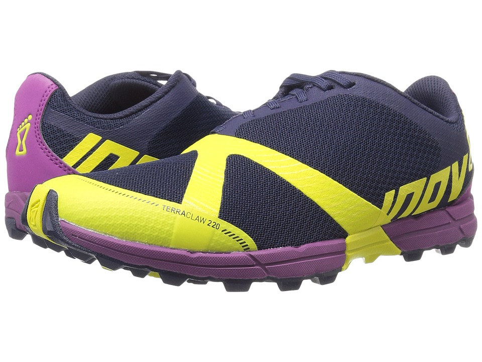 inov-8 - Terraclaw 220 (Navy/Lime/Purple) Women's Running Shoes