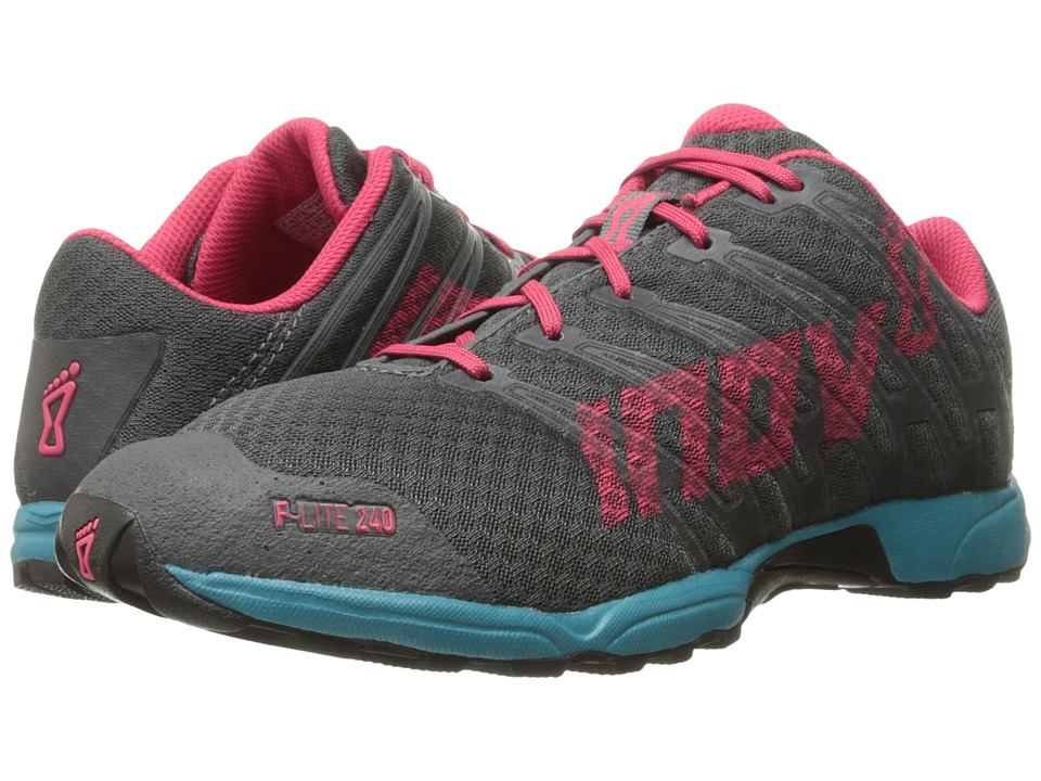 inov-8 - F-Lite 240 (Grey/Teal/Berry) Women's Running Shoes