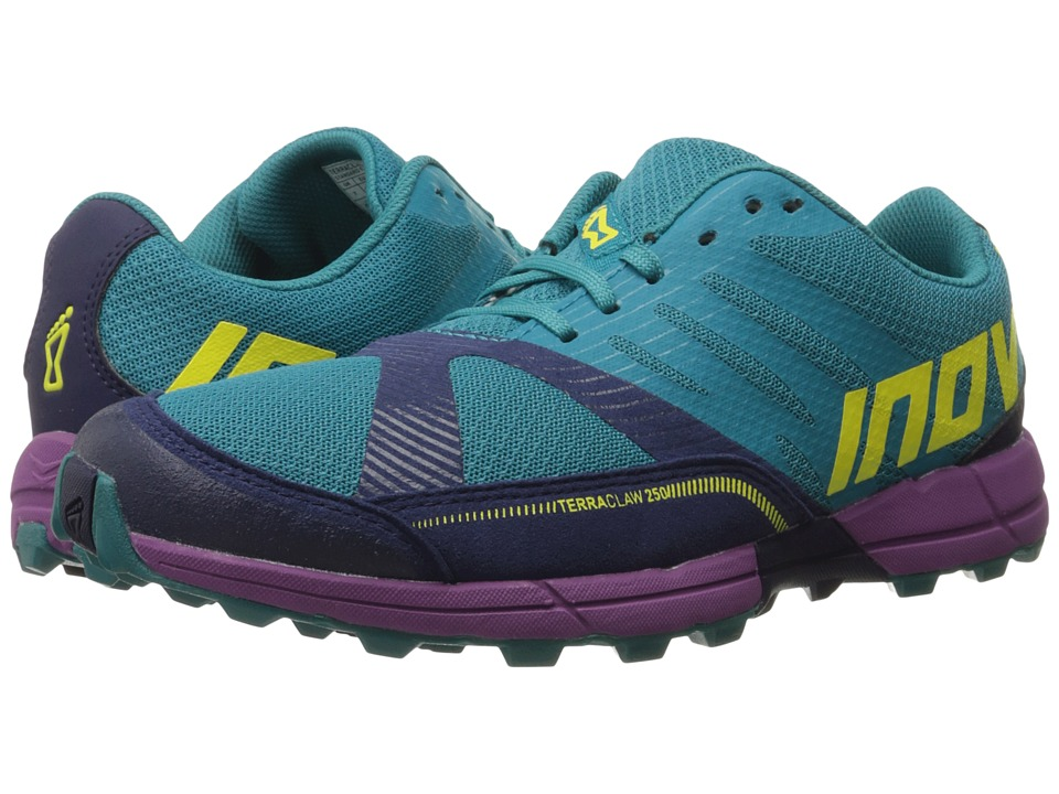 inov-8 - Terraclaw 250 (Teal/Navy/Purple) Women's Running Shoes