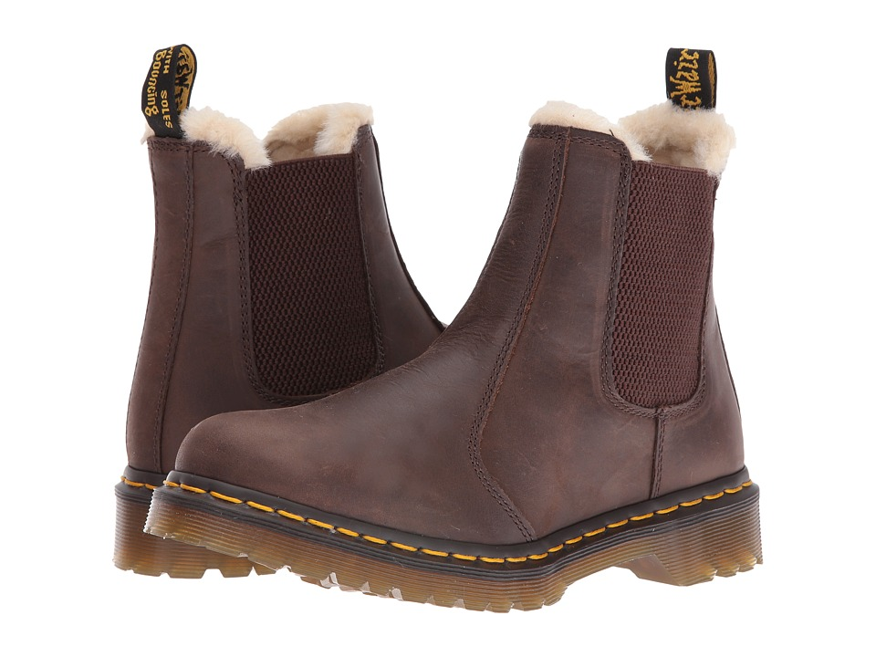 Dr. Martens - Leonore (Brown Burnished Wyoming) Women's Pull-on Boots