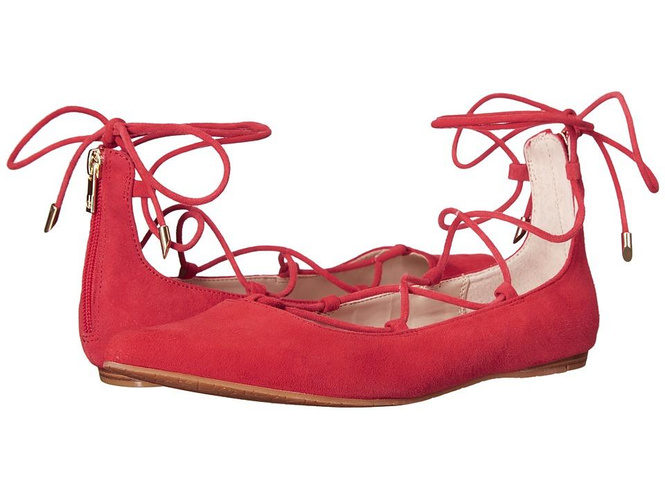 Calvin Klein - Harlin (Lipstick Red Kid Suede) Women's Shoes