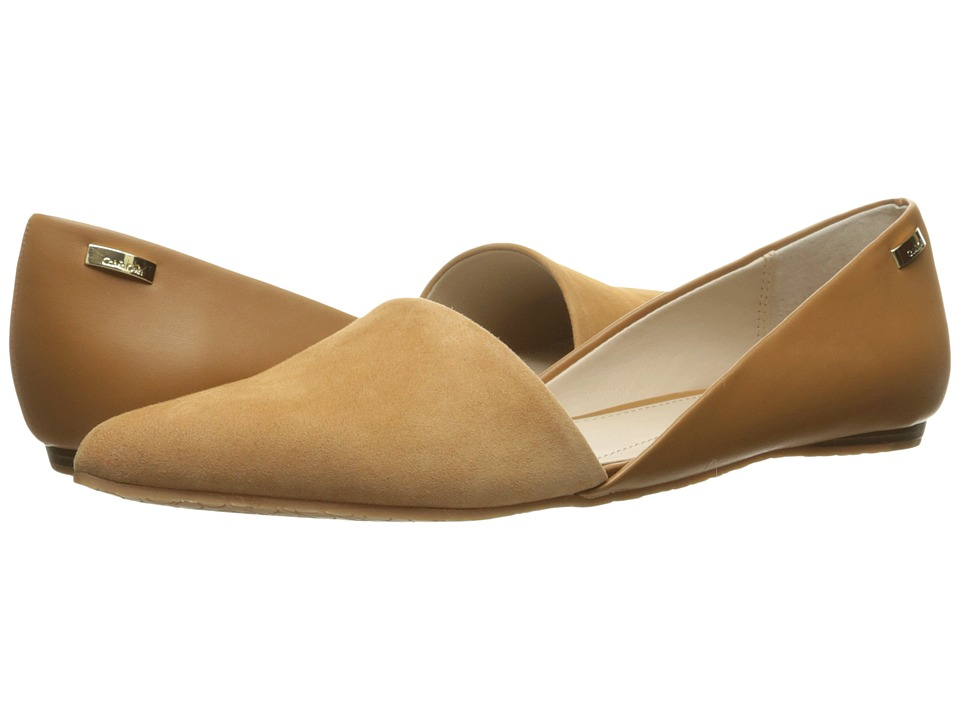 Calvin Klein - Harmonia (Almond Tan Kid Suede/Smooth) Women's Shoes