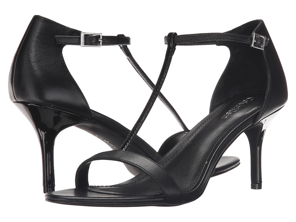 Calvin Klein - Laken (Black Leather) Women's Shoes
