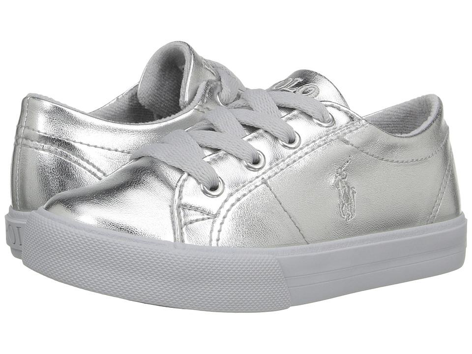 Polo Ralph Lauren Kids - Scholar (Toddler) (Silver Metallic) Girl's Shoes