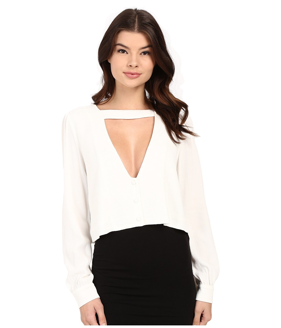 Stone Cold Fox - Shrine Blouse (White) Women's Blouse